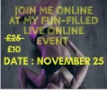 Join my online fun filled event