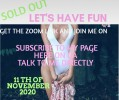 Get the zoom link and join my live show and have fun!